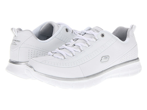 Adidasi SKECHERS - Synergy - Out And About - White/Silver