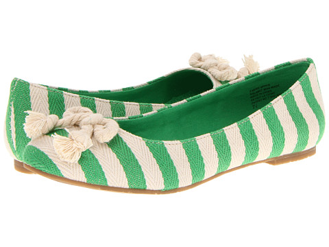 Balerini BC Footwear - Open and Shut Case - Green Stripe