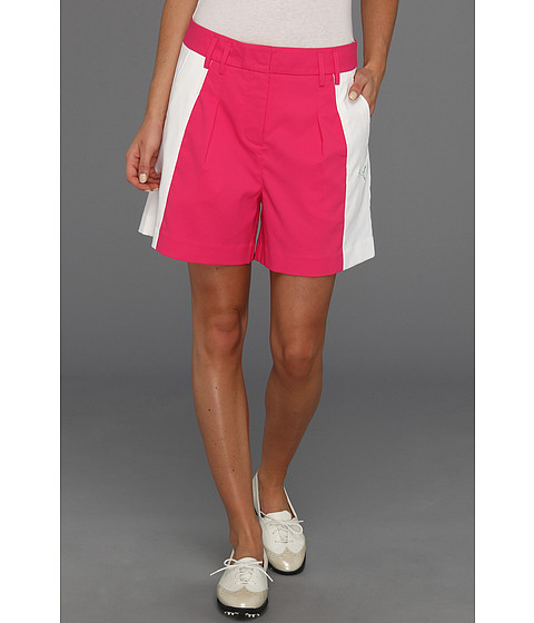 Pantaloni PUMA - Golf Colorblock Short \13 - Caberet/White