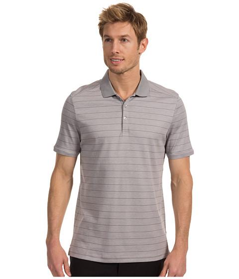 Tricouri Calvin Klein - S/S 3 Button 50s Singles Interlock Liquid Cotton Polo - Gracious Grey