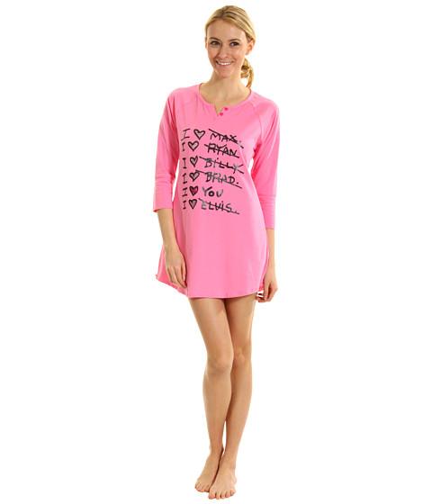 Lenjerie Betsey Johnson - Stretch Cotton Sleepshirt - Pink Cadillac