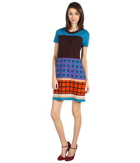 Rochii elegante: Rochie Kate Spade New York - Blocked Freyda Dress - Multi Lueg Geometric