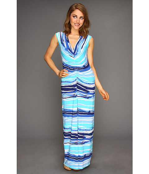 Rochii elegante: Rochie Tommy Bahama - Rising Tide Long Dress - Blue Atoll