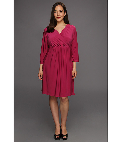 Rochii elegante: Rochie Christin Michaels - Plus Size Jae Dress - Berry
