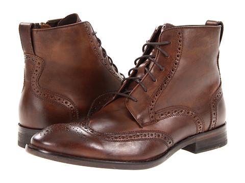 Ghete John Varvatos - Dearborn Wingtip Boot - Wood Brown