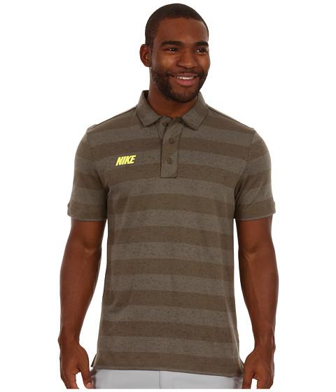 Tricouri Nike - Sport Vintage Stripe Polo - Tarp Green