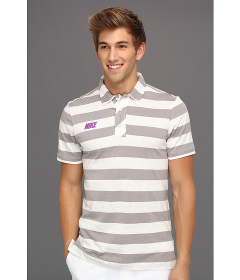 Tricouri Nike - Sport Vintage Stripe Polo - Sail/Dark Grey
