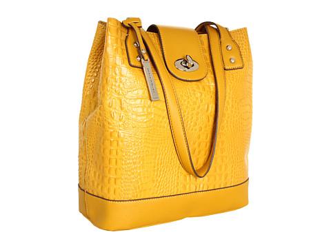 Posete Franco Sarto - U-Turn Croc Leather Tote - Canary Yellow