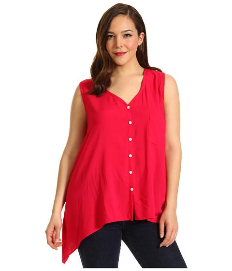 Bluze Karen Kane - Plus Size S/L Pocket Top - Raspberry
