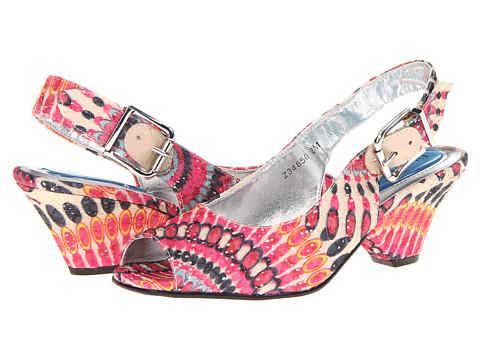 Sandale Fitzwell - Temple - Fuchsia Print Fabric