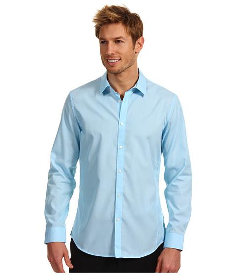 Tricouri Calvin Klein - Slim Fit L/S End On End Poplin Woven Shirt w/ Contrast - Tahoe