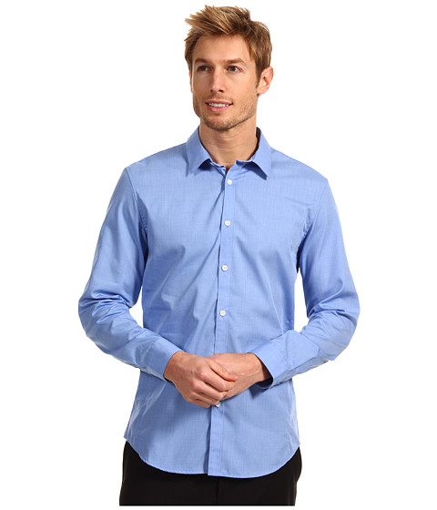 Tricouri Calvin Klein - Slim Fit L/S End On End Poplin Woven Shirt w/ Contrast - Monaco