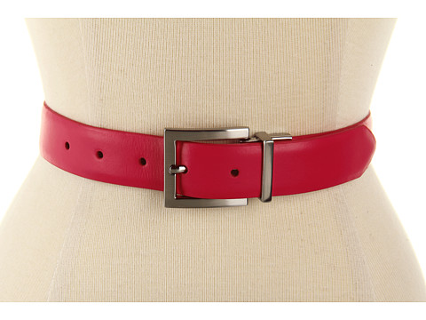 "Curele Calvin Klein - Calvin Klein 1 1/8"" Reversible Belt w/ Nickel Buckle - Pink"