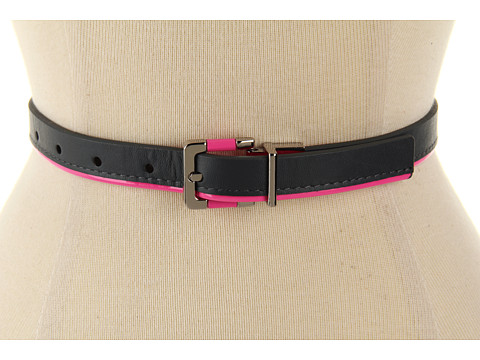 "Curele Calvin Klein - Calvin Klein 3/4"" Buckle On Reverse Patent Panel - Pink"
