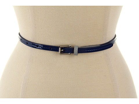 "Curele Calvin Klein - Calvin Klein 3/8"" Roller Buckle On Patent Panel - Blue"