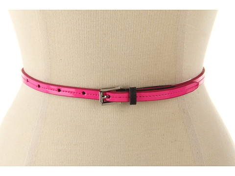 "Curele Calvin Klein - Calvin Klein 3/8"" Roller Buckle On Patent Panel - Pink"