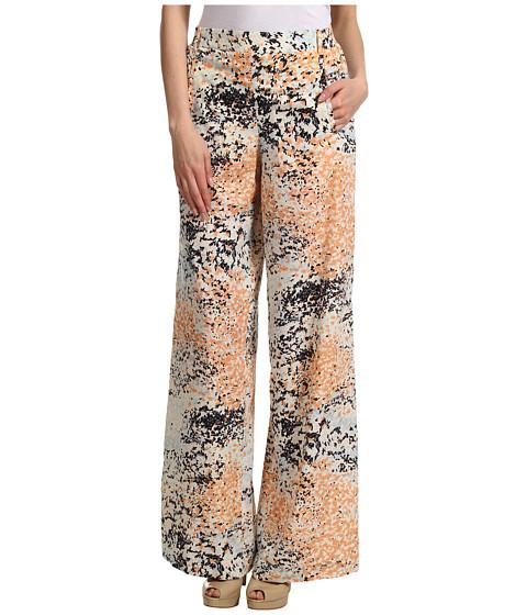 Pantaloni BCBGMAXAZRIA - Joan Wide Leg Printed Pant - Powder Combo