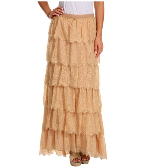 Fuste BCBGMAXAZRIA - Edita Tiered Lace Skirt - Parfait