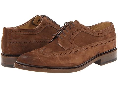 Pantofi Frye - James Wingtip - Dark Brown/Suede