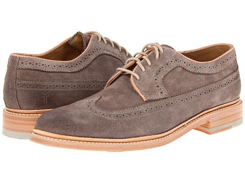 Pantofi Frye - James Wingtip - Grey/Suede