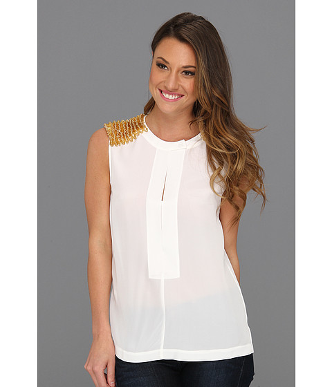 Bluze BCBGMAXAZRIA - Oakley Sleeveless Top - White