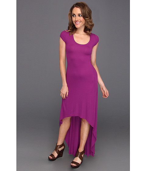 Rochii BCBGMAXAZRIA - Donesa Long Dress With High Front Hem - Bright Magenta