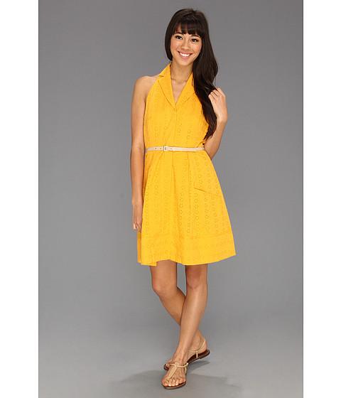Rochii Jessica Simpson - Halter Shirt Dress - Radiant Yellow