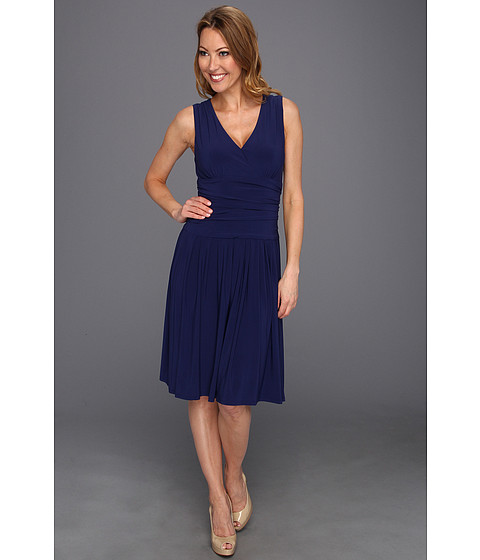 Rochii Jessica Howard - Surplus Dress w/ Ruched Waist & Full Skirt - Cobalt