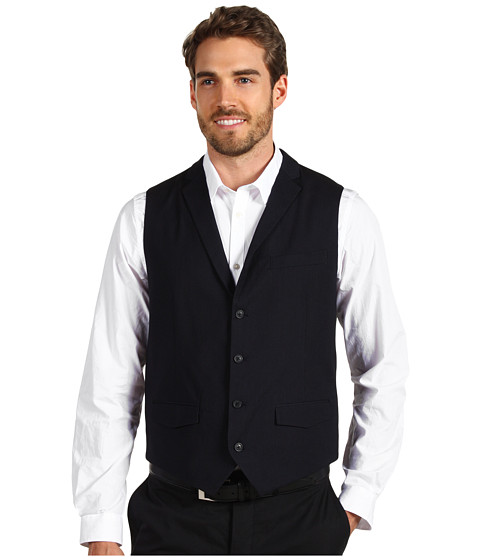 Jachete Perry Ellis - Fine Stripe Suit Vest - Ink