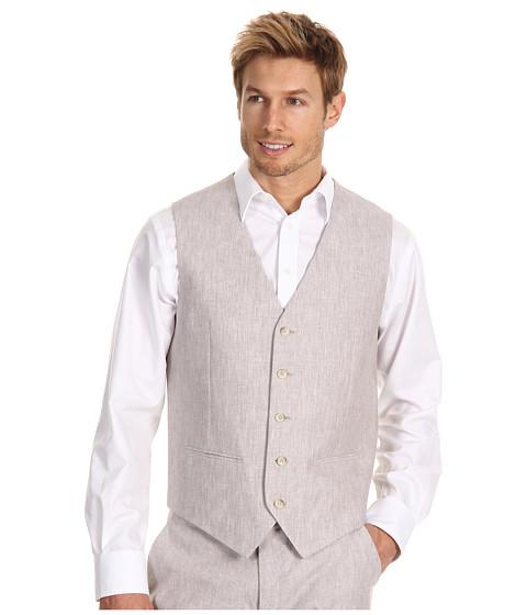 Jachete Perry Ellis - Linen Cotton Suit Vest - Natural