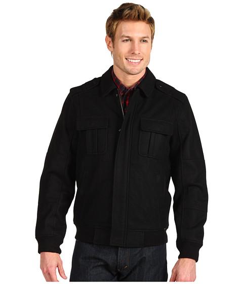 Geci Perry Ellis - Melton Eisenhower Jacket - Black