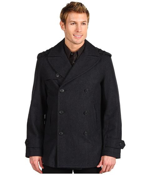 Geci Perry Ellis - Melton Peacoat - Charcoal