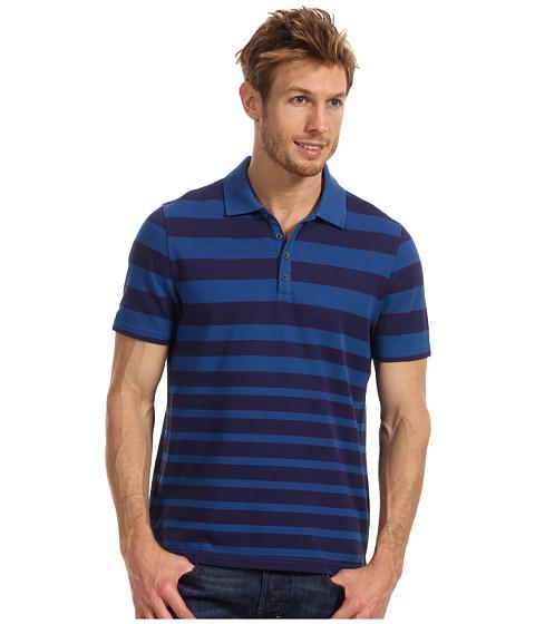 Tricouri Perry Ellis - Cotton Blend Stripe Knit Polo - Ink