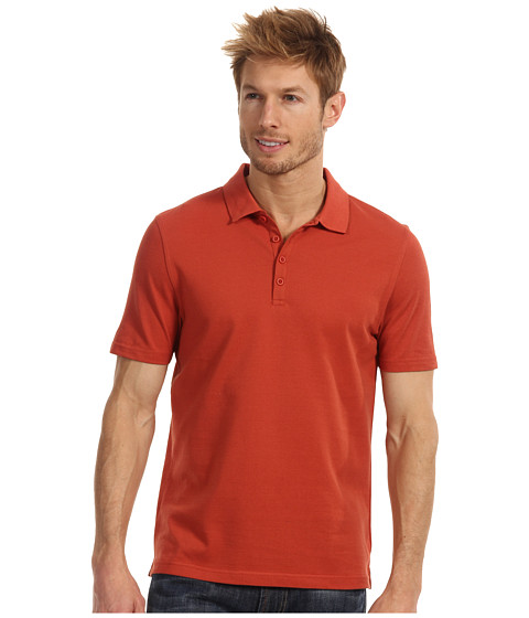 Tricouri Perry Ellis - Solid Iridescent Knit Polo - Brigth Coral