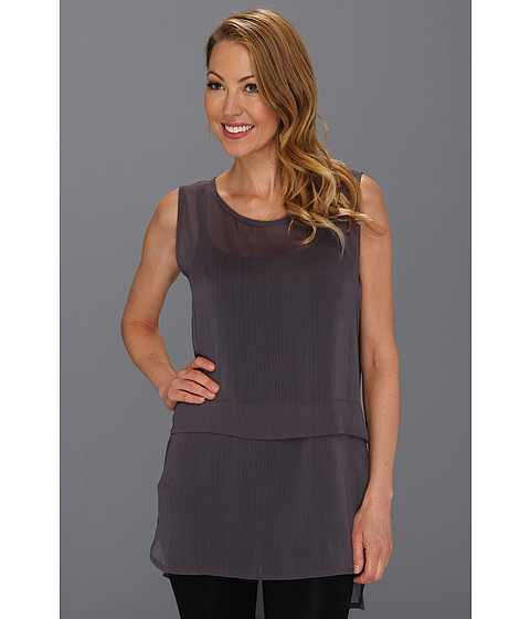 Bluze Pure & Simple - Debra Sleeveless Tunic - Graphite
