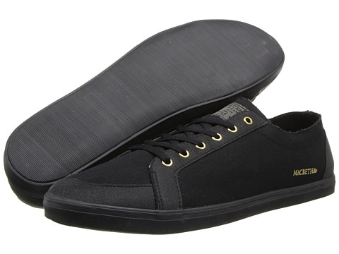 Adidasi Macbeth - Adams - Black/Gold/Classic Canvas/Synthetic Suede
