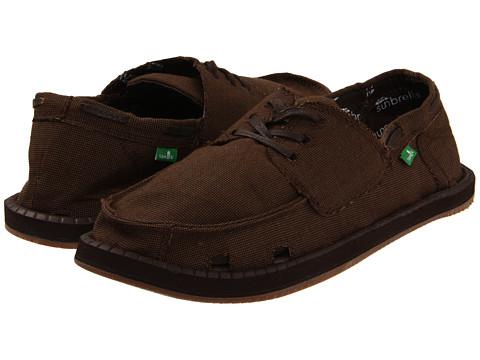 Pantofi Sanuk - Overboard Sunbrella - Brown