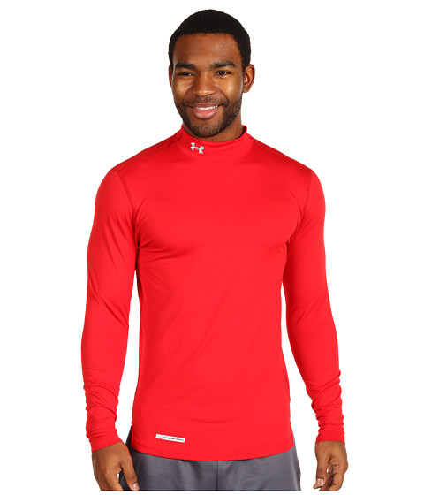 Tricouri Under Armour - ColdGearî Fitted L/S Mock - Red/Metal