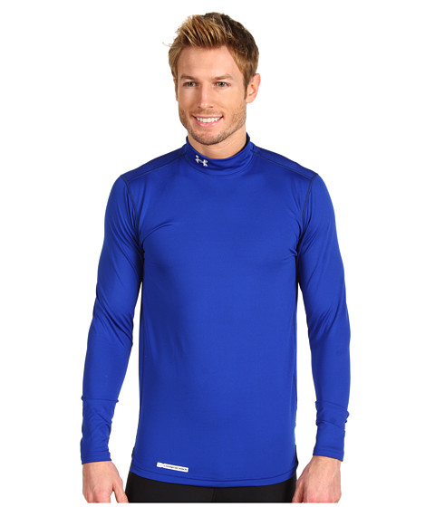 Tricouri Under Armour - ColdGearî Fitted L/S Mock - Royal/Metal