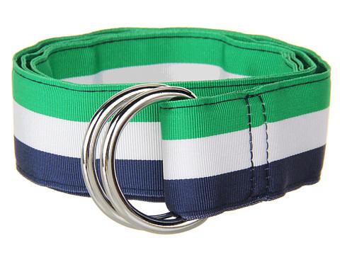 Curele Vineyard Vines - Traveler Stripe Grosgrain Ribbon D-Ring Belt - Lucky