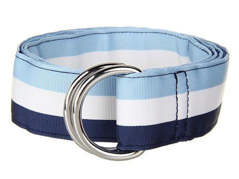 Curele Vineyard Vines - Traveler Stripe Grosgrain Ribbon D-Ring Belt - Jake Blue