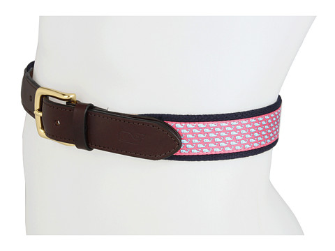Curele Vineyard Vines - Vineyard Whale Canvas Club Belt - Raspberry