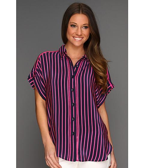 Camasi Nanette Lepore - Optic Shirt - Navy/Pink