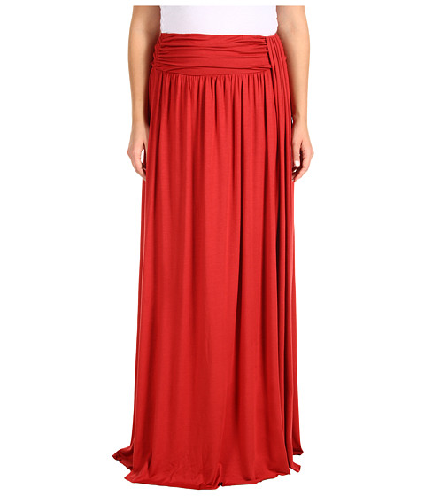 Fuste Rachel Pally - Plus Size Waterfall Drape Skirt - Spice