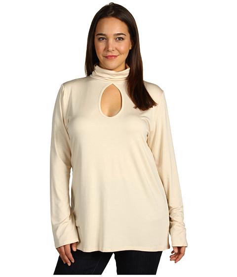 Tricouri Rachel Pally - Plus Size Double Keyhole Top - Cream