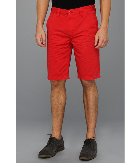 Pantaloni Calvin Klein - Washed Colored Trouser Short - Faded Poppy