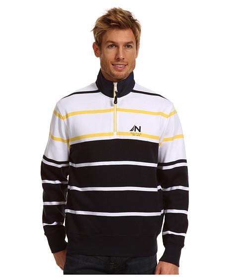 Bluze Nautica - 1/4 Zip Mock Neck Pullover - Navy
