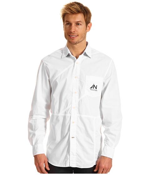 Bluze Nautica - L/S Pieced Solid Shirt - Bright White