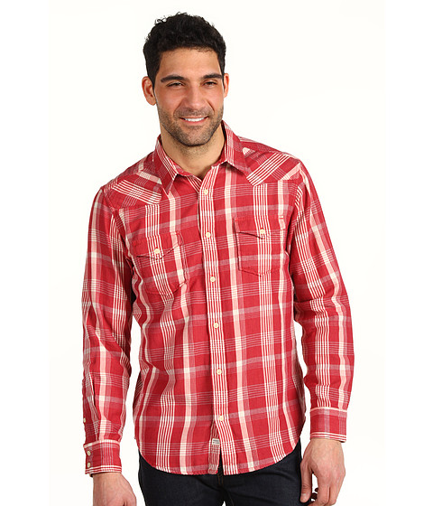 Bluze Lucky Brand - Sonoma Plaid Double Weave Western Shirt - Red Plaid