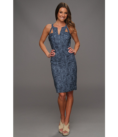 Rochii BCBGMAXAZRIA - Macie Cutout Sheath Dress - Dark Persian Blue Combo